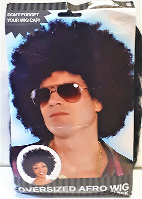 Amscan Oversized Afro Perücke Unisex für Kostüm  Disco Karneval Party