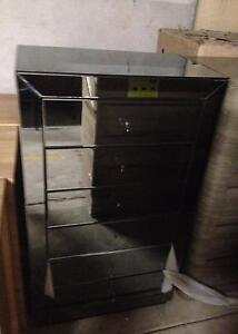 NEW MERLINO 6 DRAWER GLASS TALLBOY Liverpool Liverpool Area Preview