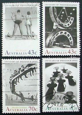 AUSTRALIA 1991: 150 YEARS PHOTOGRAPHY IN AUSTRALIA: SET OF 4 USED STAMPS: LOT 2
