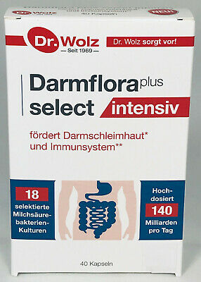 Dr.Wolz Darmflora plus select INTENSIV, Milchsäurebakt. 40 Kapseln+ Gratiszugabe
