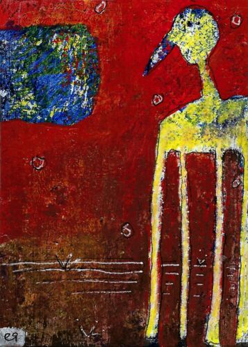 few and far between the windows to other worlds e9Art ACEO Outsider Abstract Art