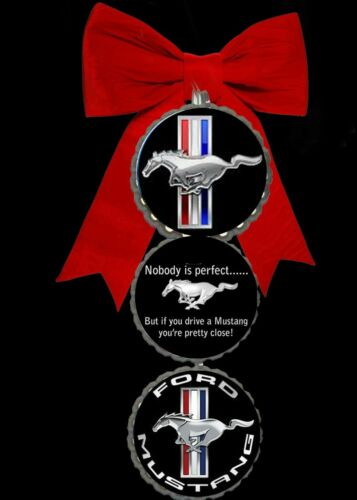 Ford Mustang  bottlecap Christmas ornaments tree holiday decorations