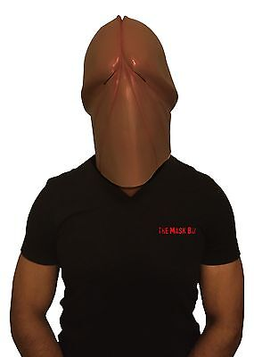 The Mask Biz Dark Penis Head Dick Mask Latex Animal Prank Party Costume Gag](Costume Dick)