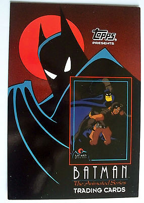 1992 BATMAN THE ANIMATED SERIES UNCUT PROTOTYPE CARD  PROMO for 1993 set