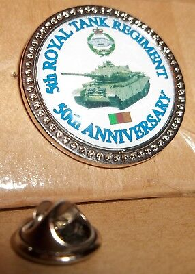 5th Royal Tank Regiment 5oth Disbandment Anniversary lapel badge free postage.