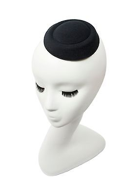 "Black 5"" Oval Pillbox Stewardess Fascinator Millinery Hat Base -13 Colors"