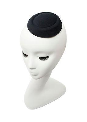 "Black 5"" Oval Pillbox Stewardess Fascinator Millinery Hat Base -13 Colors"