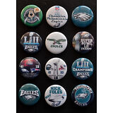 Philadelphia Eagles Super Bowl LII Champions - Button Set (  Free Shipping  )