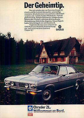 Chrysler-Simca-2-Liter-1975-Reklame-Werbung-genuineAdvertising-nl-Versandhandel