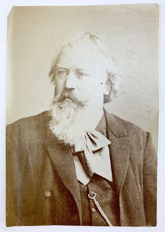 Johannes BRAHMS (Composer): Original Albumen Photograph Portrait ca. 1889