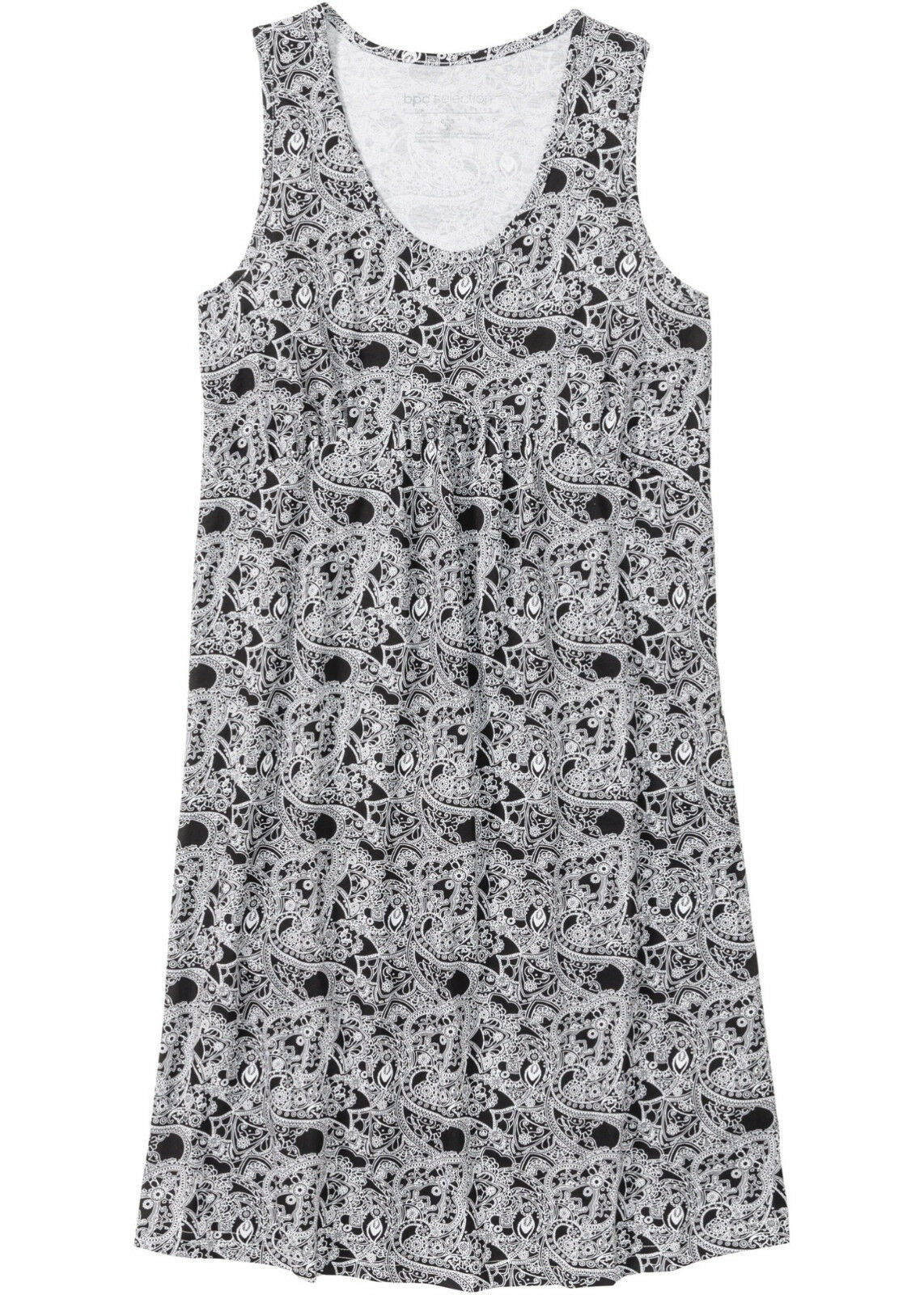 Nachthemd Damen Schlafshirt Bigshirt schwarz gemustert Baumwolle S  L XL neu 323