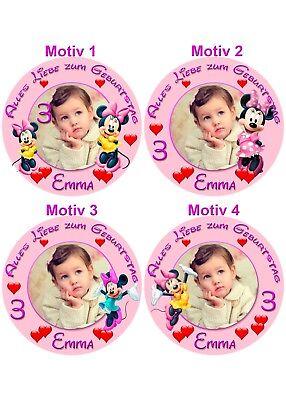 Tortenaufleger Disney Micky Maus Minnie Tortenbild Fototorte Geburtstag (299) ()