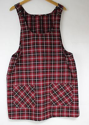 Urban DUNGAREE style 90s Fashion Pinafore Check Tartan Dress Clueless Boho