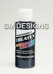 Createx Paint 60ml Transparent Pearl Opaque Airbrush Colours Fabric Wood Textile