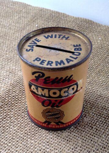 VINTAGE PENN AMOCO OIL CAN BANK