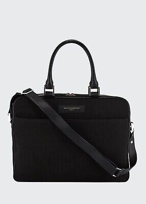 WANT Les Essentiels De La Vie Organic Men's Haneda Slim Canvas Briefcase Bag