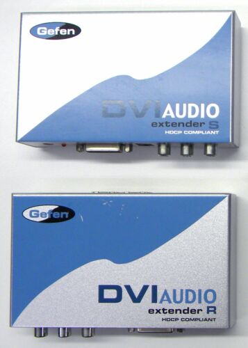Gefen EXT-DVI-AUDIO-CAT5 Extender Audio and Video over Cat5 Cat5e Cat6 Catx