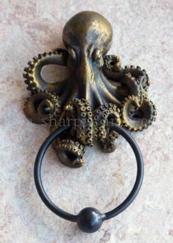 """Gothic Fantasy OCTOPUS KRAKEN DOOR KNOCKER Superb Detail 8.5"""" OA Hand Finished"""