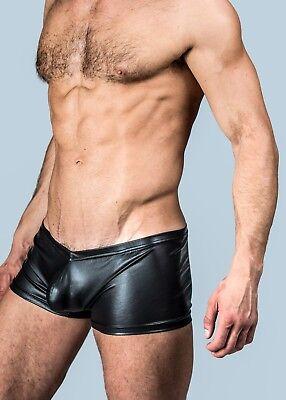 Mens Rocky Horror Faux Leather Style Black Boxer Trunks Shorts Underwear UK POST