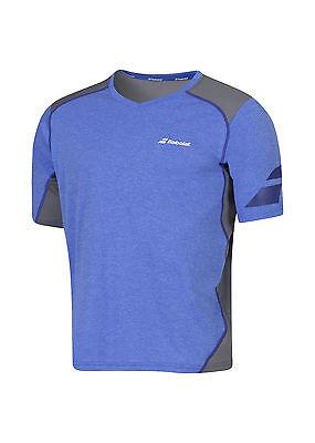TOP-RABATT*: Babolat Performance Tshirt V-Neck Blau grau - Funktionsshirt Tennis