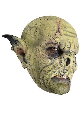 Battle Merchant Wilder Ork-Maske Ocker Fasching Halloween LARP Gummimaske
