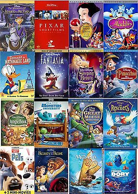 Disney Classic Special Edition Dvd Lot Of 60 Finding Dory Moana  Pick 10