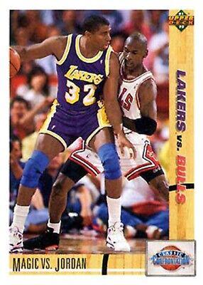 1991-92 Upper Deck #34 Magic Johnson Michael Jordan Lakers Chicago Bulls HOF