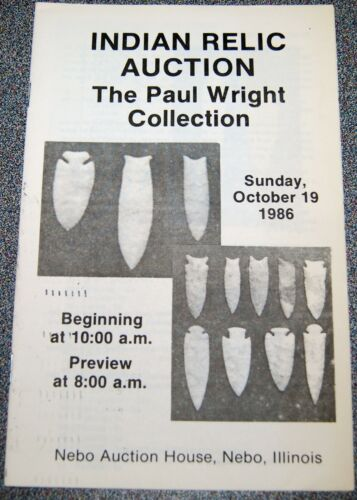 Paul Wright American Indian Auction Catalog, October 19th, 1986