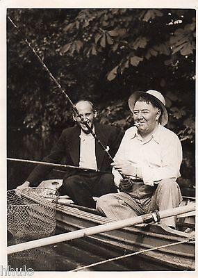 C190 photographie vintage original pêche pêcheurs barque funny amusant