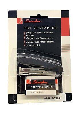 Vintage Swingline Tot 50 Mini Stapler With Staples 74711-79041 Black
