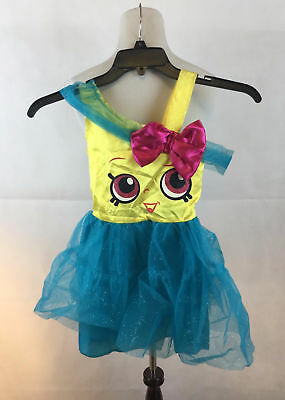 Cupcake Queen Costume (Shopkins Cupcake Queen Girl Costume Small Yellow Dress Blue NWT No)