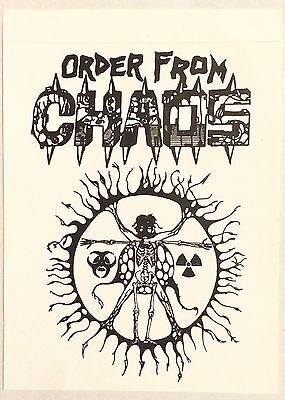 "ORDER FROM CHAOS Rare Collectible 80s Death Thrash Black Metal Sticker 5.5"" x 4"""