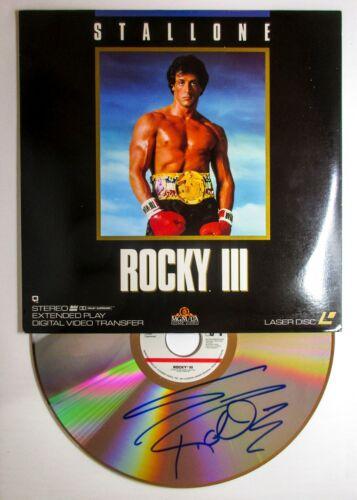 *RARE* Sylvester Stallone Signed Rocky Laserdisc EXACT Proof JSA COA Rambo Photo