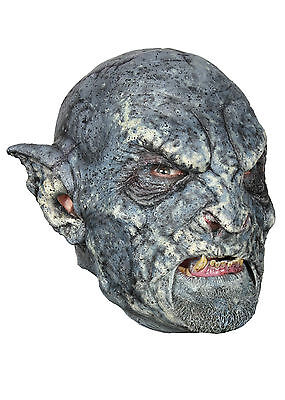 Battle Merchant Ork-Maske Blau Orkmaske Fasching Halloween Monster Gummimaske