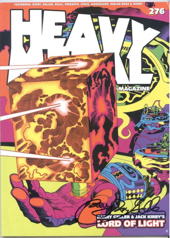 JACK KIRBY/ BARRY IRA GELLER - SIGNED Heavy Metal Magazine #276B ~ HIGHEST GRADE