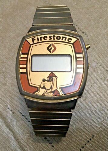 VTG 80's Firestone Tire Credit Union Akron Ohio ~WATCH Max The Dog Logo ~RARE