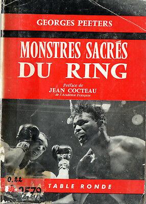1 LIVRE RARE  - BOXE - MONSTRES SACRES DU RING - 1959