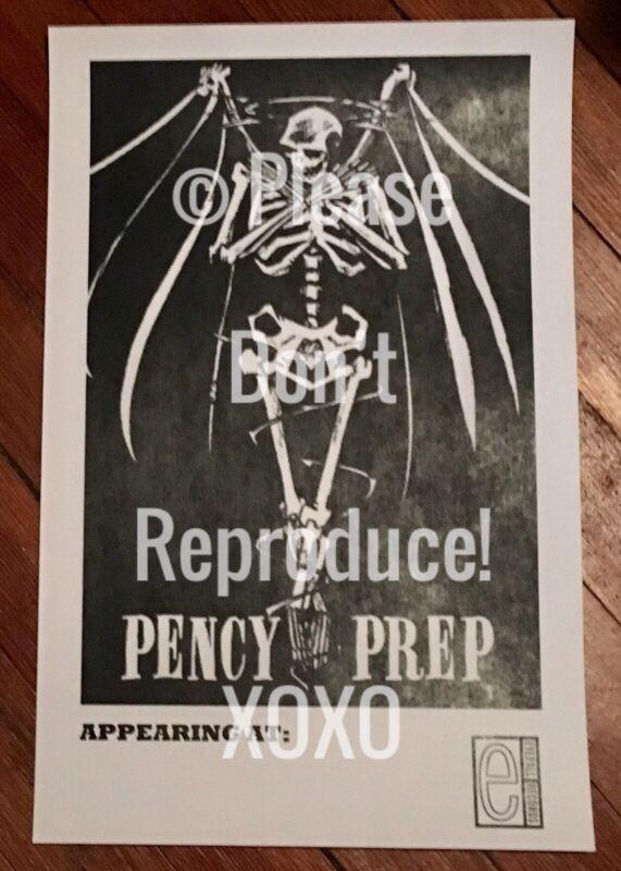 "Vintage Pencey Prep Blank Show Poster ""My Chemical Romance"" Original 11X17"