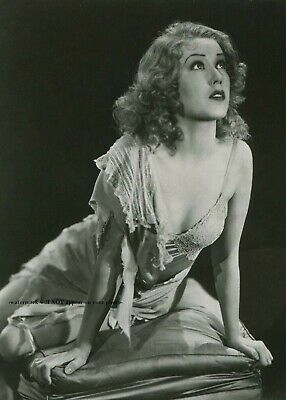 Sexy Fay Wray PHOTO 1933 King Kong Movie Publicity Pic, Scared Girl