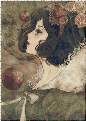 Gothic Snow White Fan Art DIGITAL Cross-Stitch Pattern - Buy 3, Get 3 FREE! ()