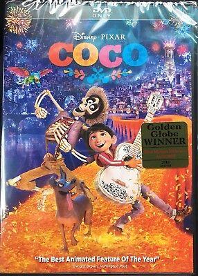 Disney Pixar Coco Dvd Only New Unopened