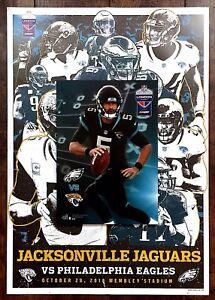 Philadelphia Eagles v Jacksonville Jaguars NFL Programme With Poster 28/10/2018