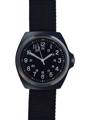 Military Industries 1980s Pattern MIL-W-46374C U.S Military Watch Matte Black