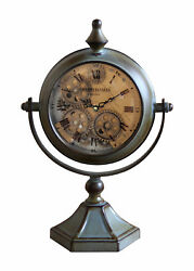 Vintage Table Clock Gear Art Antique Metal Home Desk Elegant Gift 20 x 40cm
