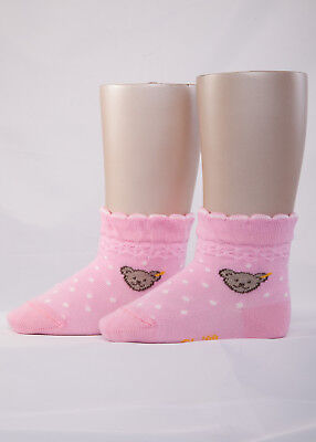 Söckchen Mädchen (STEIFF® Mädchen Socken Söckchen Pünktchen Pink Bär 50-116 F/S 2019 NEU!)