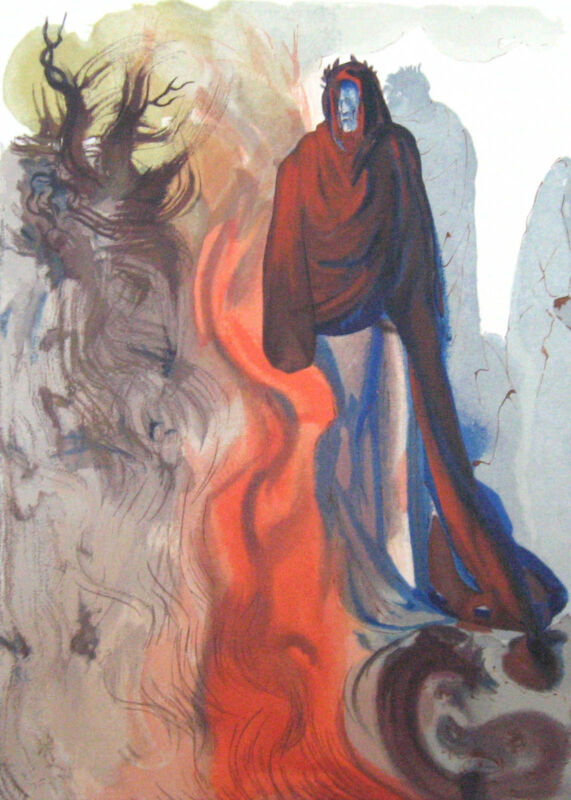 Salvador Dali The Divine Comedy Inferno #34 Woodblock Fine Art Print, Make Offer