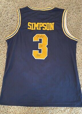 ZAVIER SIMPSON Signed Autographed MICHIGAN BASKETBALL Jersey Xavier EXACT PROOF