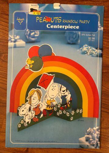 Vintage Peanuts Rainbow Party Centerpiece - Hallmark - Snoopy Charlie Brown