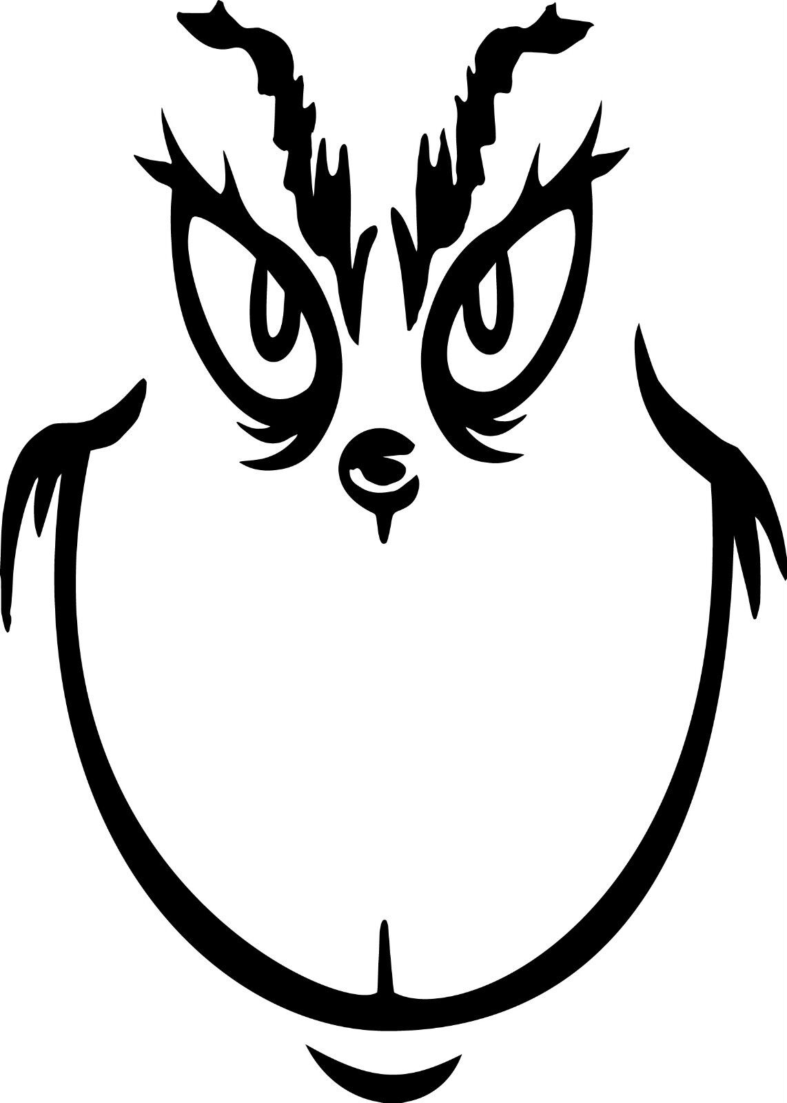 Home Decoration - Vinyl Decal Grinch Face! Calendared Vinyl, Various colors and sizes!