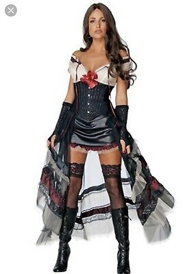 Lilah Costume Adult Jonah Hex Sexy Saloon Girl - Hex Lilah Kostüm